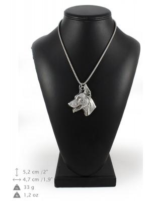 Doberman pincher - necklace (silver chain) - 3294 - 34328