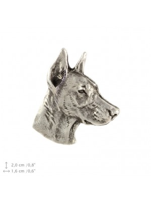Doberman pincher - pin (silver plate) - 2228 - 22298