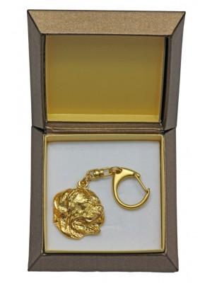 Dog de Bordeaux - keyring (gold plating) - 2413 - 27284