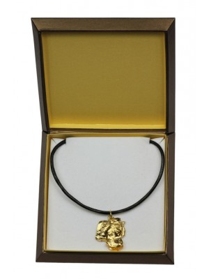 Dogo Argentino - necklace (gold plating) - 2469 - 27628