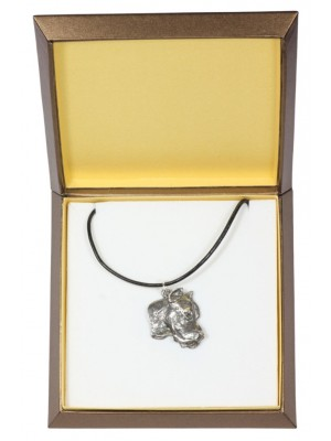 Dogo Argentino - necklace (silver plate) - 2913 - 31057
