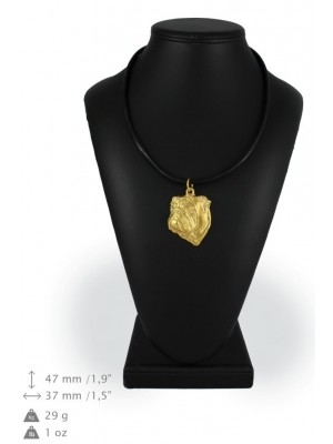 English Bulldog - necklace (gold plating) - 915 - 25339