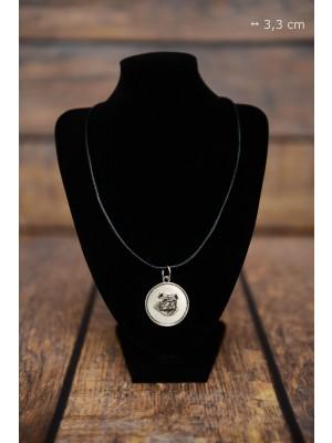 English Bulldog - necklace (silver plate) - 3410 - 34822