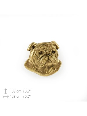 English Bulldog - pin (gold) - 1502 - 7488