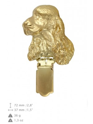 English Cocker Spaniel - clip (gold plating) - 1036 - 26732