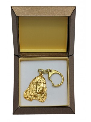English Cocker Spaniel - keyring (gold plating) - 2434 - 27305