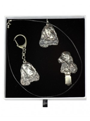 English Cocker Spaniel - keyring (silver plate) - 2062 - 17574