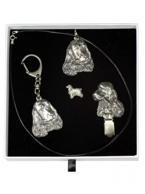 English Cocker Spaniel - keyring (silver plate) - 2088 - 18388