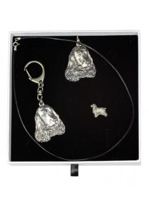 English Cocker Spaniel - keyring (silver plate) - 2107 - 18883