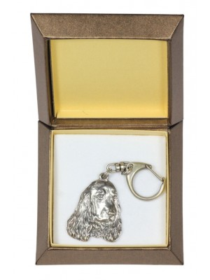 English Cocker Spaniel - keyring (silver plate) - 2778 - 29898