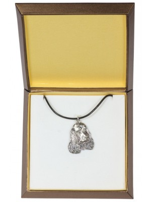 English Cocker Spaniel - necklace (silver plate) - 2965 - 31108