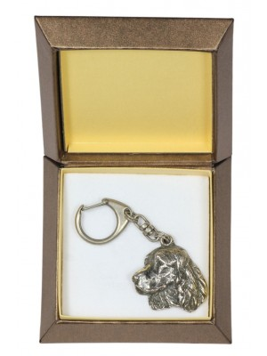 English Springer Spaniel - keyring (silver plate) - 2772 - 29892