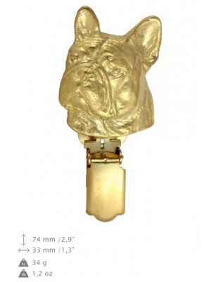 French Bulldog - clip (gold plating) - 1019 - 26620