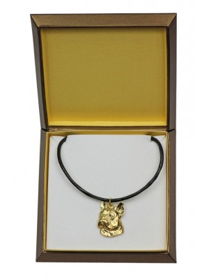 French Bulldog - necklace (gold plating) - 2503 - 27662