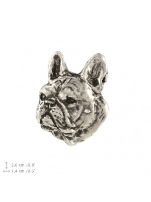 French Bulldog - pin (silver plate) - 2218 - 22253