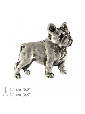 French Bulldog - pin (silver plate) - 466 - 25968