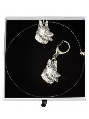 German Shepherd - keyring (silver plate) - 1940 - 14532