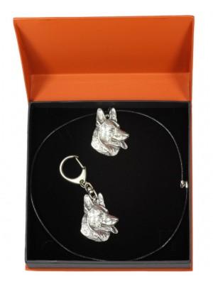 German Shepherd - keyring (silver plate) - 2126 - 19347