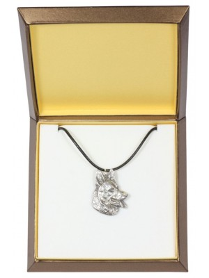 German Shepherd - necklace (silver plate) - 2912 - 31056