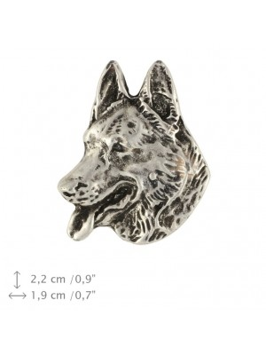 German Shepherd - pin (silver plate) - 1512 - 26059