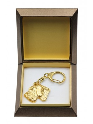 German Wirehaired Pointer - keyring (gold plating) - 2883 - 30549