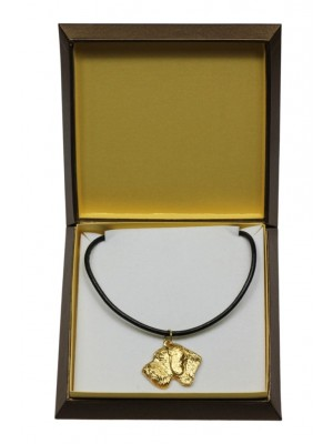 German Wirehaired Pointer - necklace (gold plating) - 3065 - 31701