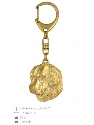 Golden Retriever - keyring (gold plating) - 785 - 25015