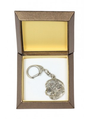 Golden Retriever - keyring (silver plate) - 2722 - 29841