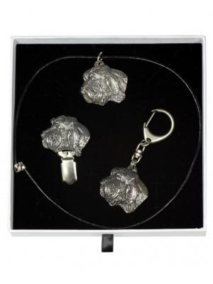 Grand Basset Griffon Vendéen - keyring (silver plate) - 2074 - 17931
