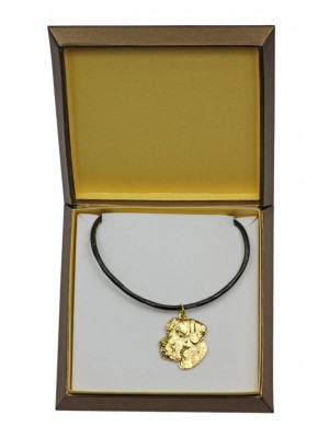 Great Dane - necklace (gold plating) - 2481 - 27640
