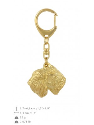 Irish Soft Coated Wheaten Terrier - keyring (gold plating) - 1738 - 30168