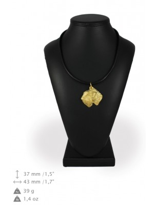 Irish Soft Coated Wheaten Terrier - necklace (gold plating) - 1719 - 31391