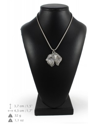 Irish Soft Coated Wheaten Terrier - necklace (silver cord) - 3248 - 33391