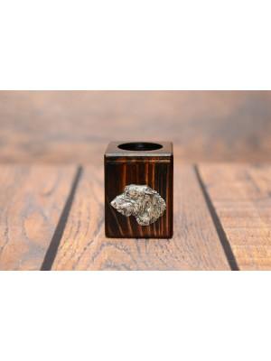 Irish Wolfhound - candlestick (wood) - 3958 - 37692