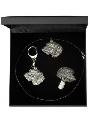 Irish Wolfhound - keyring (silver plate) - 1881 - 13253