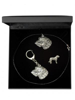 Irish Wolfhound - keyring (silver plate) - 1922 - 14168