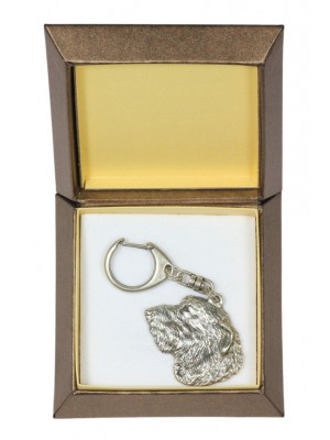 Irish Wolfhound - keyring (silver plate) - 2776 - 29896