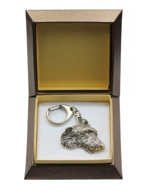 Irish Wolfhound - keyring (silver plate) - 2828 - 29952