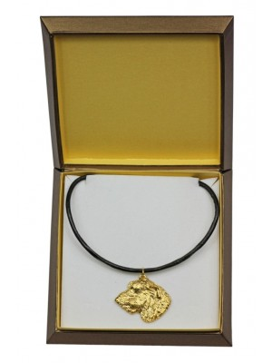 Irish Wolfhound - necklace (gold plating) - 2505 - 27664