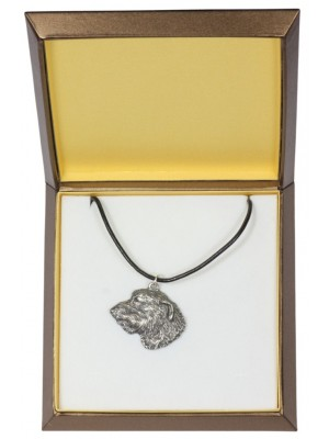 Irish Wolfhound - necklace (silver plate) - 2963 - 31106
