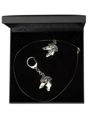Italian Greyhound - keyring (silver plate) - 1825 - 12307