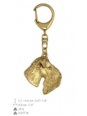 Kerry Blue Terrier - keyring (gold plating) - 842 - 25187