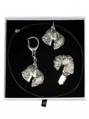 Kerry Blue Terrier - keyring (silver plate) - 2065 - 17666