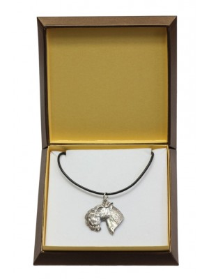 Kerry Blue Terrier - necklace (silver plate) - 3006 - 31155