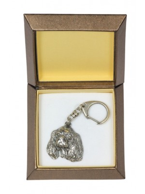 King Charles Spaniel - keyring (silver plate) - 2836 - 29972