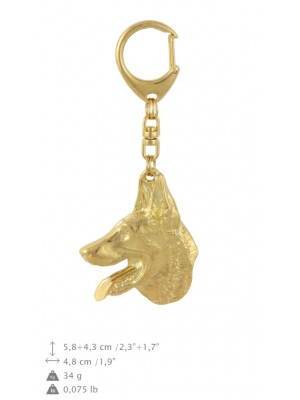 Malinois - keyring (gold plating) - 863 - 30085
