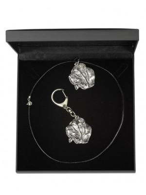 Neapolitan Mastiff - keyring (silver plate) - 1761 - 11352