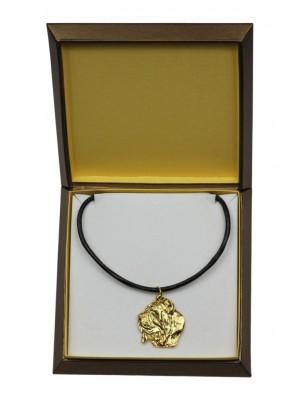 Neapolitan Mastiff - necklace (gold plating) - 2471 - 27630