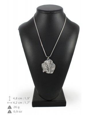 Neapolitan Mastiff - necklace (silver chain) - 3280 - 34268