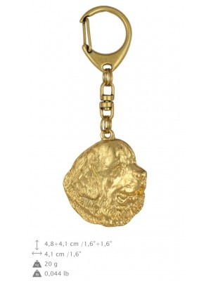 Newfoundland  - keyring (gold plating) - 788 - 25020